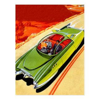 Cartão Postal Conceito retro de Kaiser Frasier do carro do
