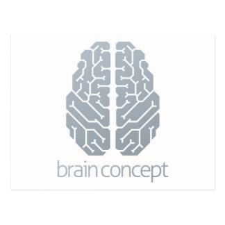 Cartão Postal Conceito superior do cérebro