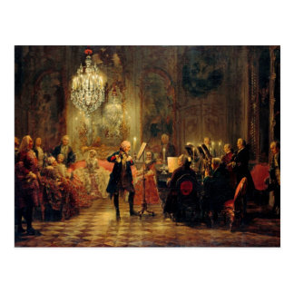 Cartão Postal Concerto da flauta com Frederick o excelente