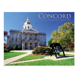 Cartão Postal Concórdia, New Hampshire