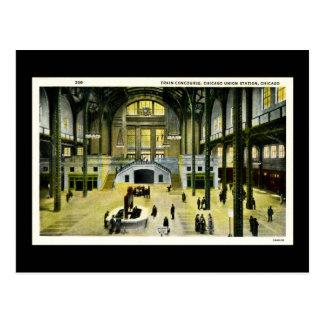 Cartão Postal Concourse do trem, estação da união de Chicago -
