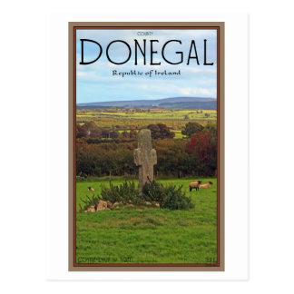 Cartão Postal Condado Donegal - cruz de pedra