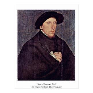 Cartão Postal Conde de Henry Howard por Hans Holbein o mais novo