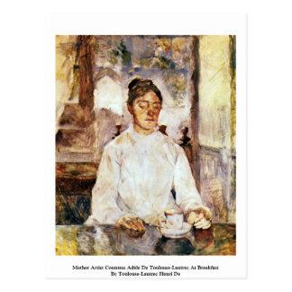 Cartão Postal Condessa Adèle De Toulouse-Lautrec do artista da