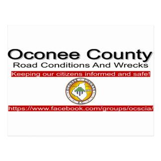 Cartão Postal Condições de estrada do Condado de Oconee e