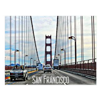 Cartão Postal Condução através de golden gate bridge