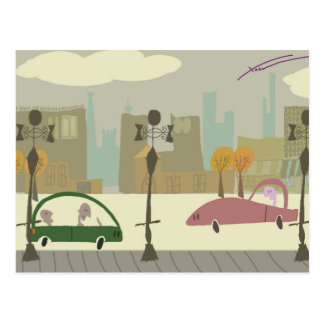 Cartão Postal Condução na cidade