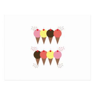 Cartão Postal Cones do sorvete