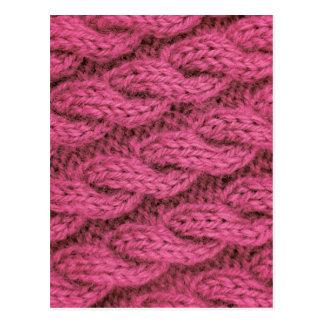 Cartão Postal Confecção de malhas cor-de-rosa do cabo