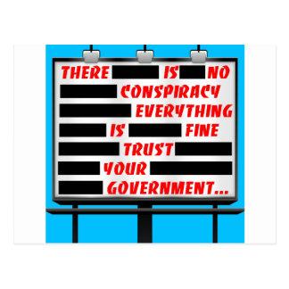 Cartão Postal Confiança do quadro de avisos seu governo