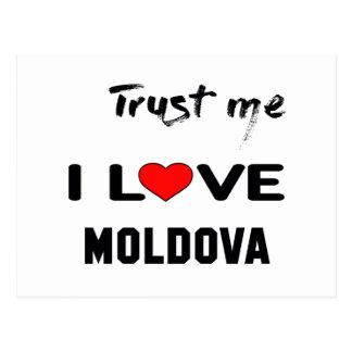 Cartão Postal Confie-me amor Moldova. de I