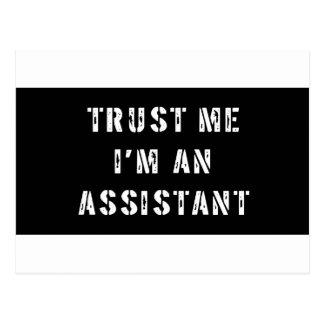 Cartão Postal Confie que eu mim é um assistente