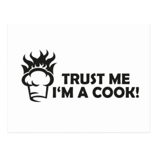 Cartão Postal Confie que eu mim é um cozinheiro!