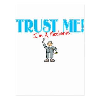 Cartão Postal Confie que eu mim é um mecânico