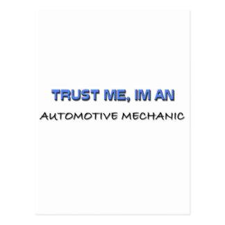 Cartão Postal Confie que eu mim é um mecânico automotriz