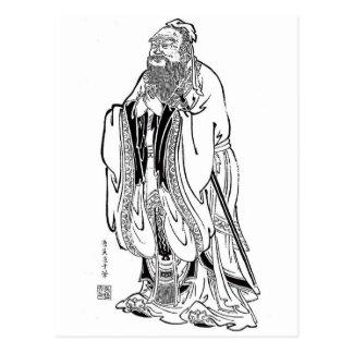 Cartão Postal Confucius