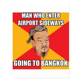 Cartão Postal Confucius diz ir a Banguecoque