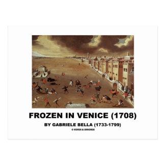 Cartão Postal Congelado em Veneza (1708) por Gabriele Bella