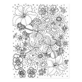 Cartão Postal Conglomeração das flores