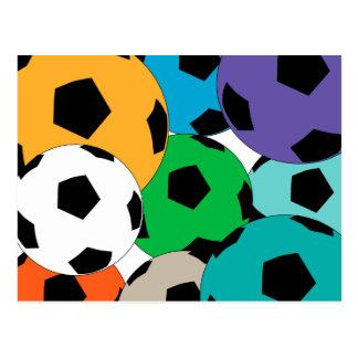 Cartão Postal conjunto de bolas de futebol