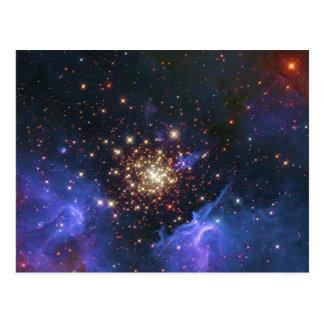 Cartão Postal Conjunto de estrela de brilho e nuvem do gás