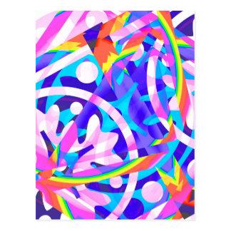 Cartão Postal Conjunto de variação da violeta da cor
