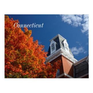 Cartão Postal Connecticut no outono
