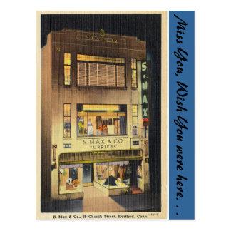 Cartão Postal Connecticut, S. Máximo & Co.