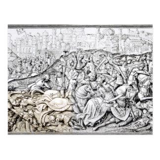 Cartão Postal Conquista de Jerusalem por Charlemagne