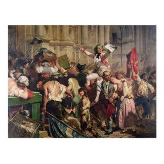 Cartão Postal Conquistadores do Bastille antes do hotel de