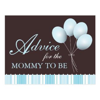 Cartão Postal Conselho do chá de fraldas do balão para que as