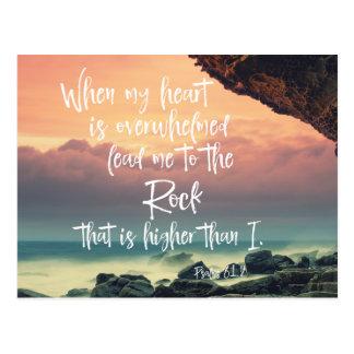 Cartão Postal Consolando o verso da bíblia dos salmos