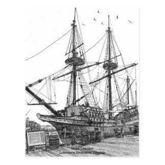 Cartão Postal Constante alta de Susan do navio