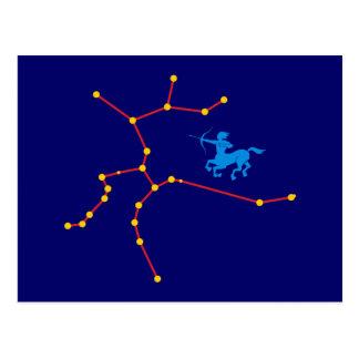 Cartão Postal Constelação atirador constellation Sagittarius