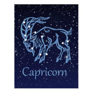 Cartão Postal Constelação do Capricórnio e sinal do zodíaco com