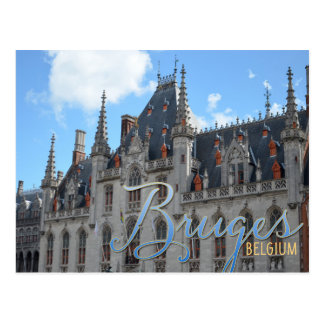 Cartão Postal Construção da corte de Bruges Bélgica | Provence