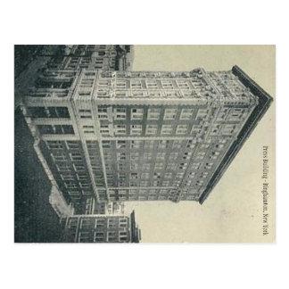 Cartão Postal Construção da imprensa - Binghamton New York