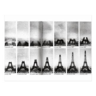 Cartão Postal Construção da torre Eiffel
