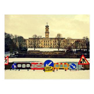 Cartão Postal Construção de Trent, universidade de Nottingham,