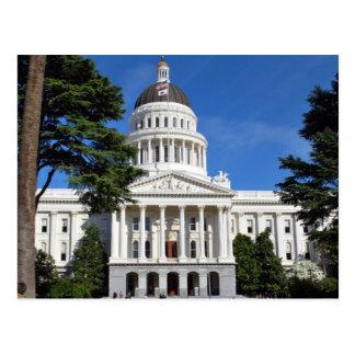 Cartão Postal Construção do Capitólio do estado de CA -