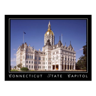Cartão Postal Construção do Capitólio do estado de Connecticut