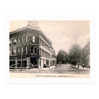 Cartão Postal Construção do guindaste, Montclair, vintage de