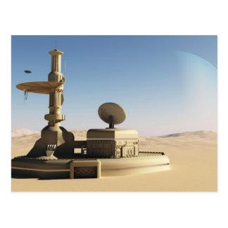 Cartão Postal Construção futurista do posto avançado do deserto