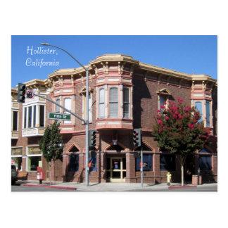 Cartão Postal Construção histórica de Hollister CA no 5a & San