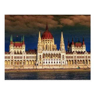 Cartão Postal Construção húngara do parlamento em Budapest,