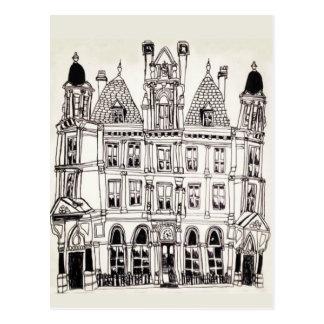 Cartão Postal Construção ilustrada de Birmingham