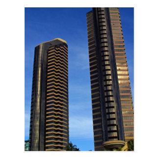 Cartão Postal Construções dos arranha-céus das torres