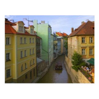Cartão Postal Construções históricas com canal, Praga, checa