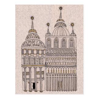 Cartão Postal Construções lunáticas da ilustração do conto de