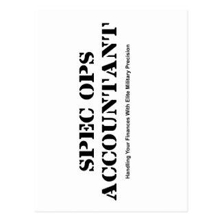 Cartão Postal Contador das especs. Ops